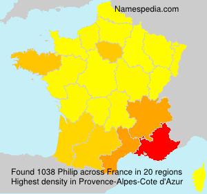 Surname Philip in France