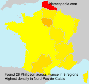 Surname Philipson in France