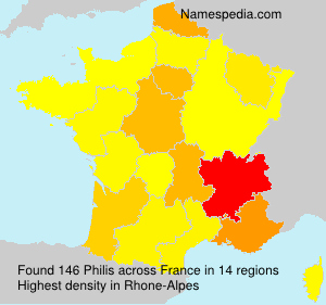 Surname Philis in France
