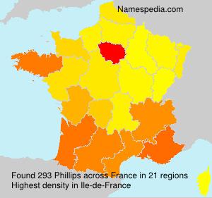 Familiennamen Phillips - France