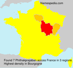 Surname Phithakprajaban in France