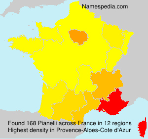 Surname Pianelli in France