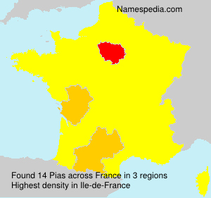 Surname Pias in France