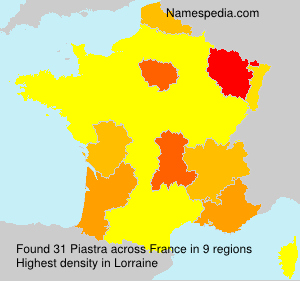 Surname Piastra in France