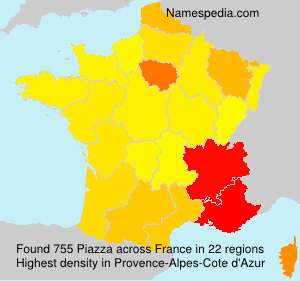 Surname Piazza in France