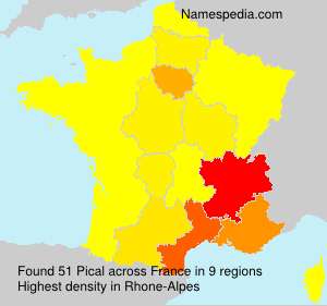 Surname Pical in France