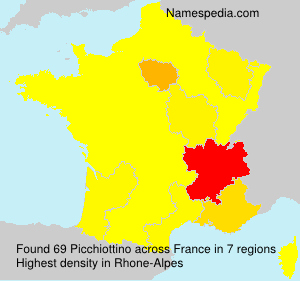 Surname Picchiottino in France