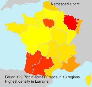 Surname Piccin in France