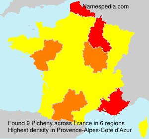 Surname Picheny in France