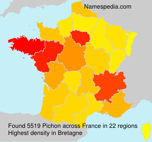 Surname Pichon in France