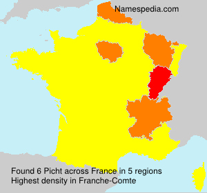 Surname Picht in France