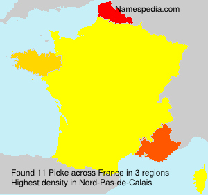 Surname Picke in France