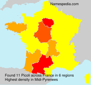 Familiennamen Picoli - France