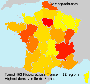 Surname Pidoux in France