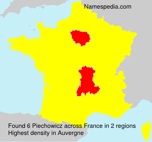 Surname Piechowicz in France