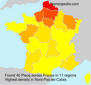 Surname Piecq in France