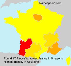 Surname Piedrafita in France
