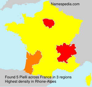 Surname Pielli in France