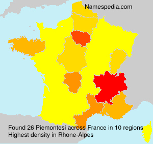 Familiennamen Piemontesi - France