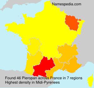 Surname Pieropan in France