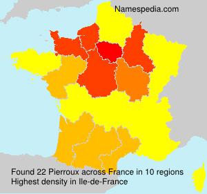 Surname Pierroux in France