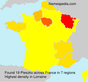 Surname Pieszko in France