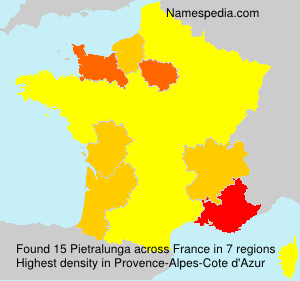 Surname Pietralunga in France