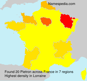 Surname Pietron in France