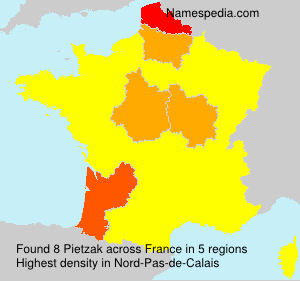 Surname Pietzak in France
