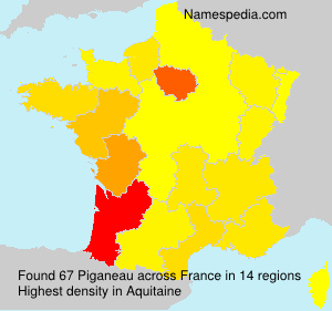 Surname Piganeau in France
