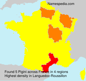 Surname Pigini in France