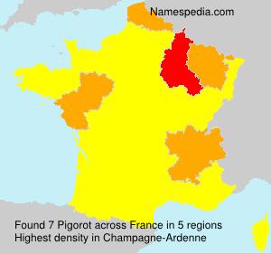 Surname Pigorot in France