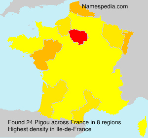 Surname Pigou in France