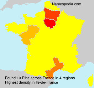 Surname Piha in France