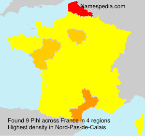 Surname Pihl in France