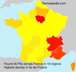 Surname Pila in France