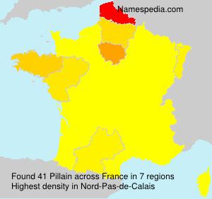 Surname Pillain in France
