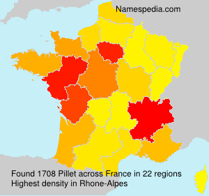 Surname Pillet in France
