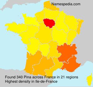 Familiennamen Pina - France