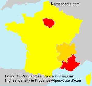 Surname Pinci in France