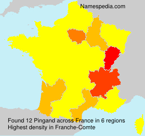 Familiennamen Pingand - France