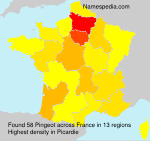 Surname Pingeot in France