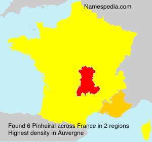 Surname Pinheiral in France