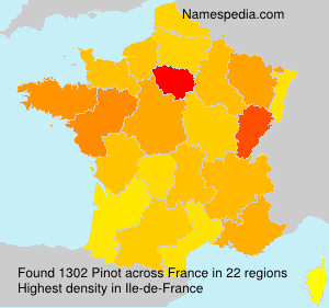 Surname Pinot in France
