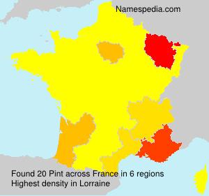 Familiennamen Pint - France