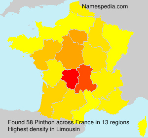 Surname Pinthon in France