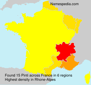 Surname Pinti in France