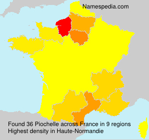 Familiennamen Piochelle - France