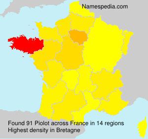 Familiennamen Piolot - France