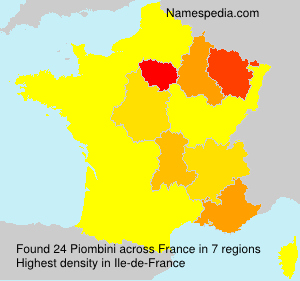 Surname Piombini in France